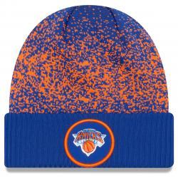 New York Knicks On-Court Cuffed Knit Beanie - Blue, ONESIZE