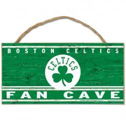 Boston Celtics Fan Cave Wood Rope Sign