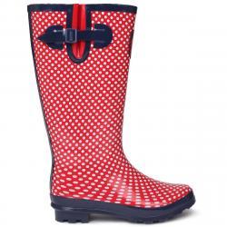 Requisite Women's Spot Tall Rain Boots - Red, 6