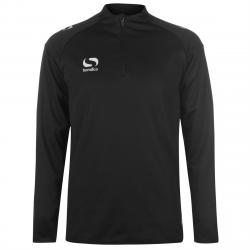 Sondico Men's Long-Sleeve Mid Layer Top - Black, XL