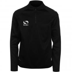Sondico Boys' Long-Sleeve Mid Layer Top - Black, 9-10