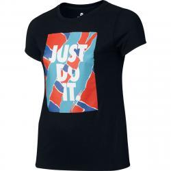Nike Girls' Just Do It T-Shirt - Black, M
