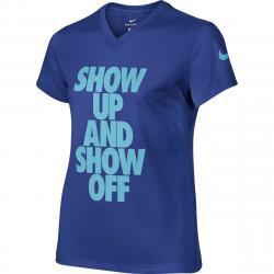 Nike Girls' Dry-Fit T-Shirt - Blue, S