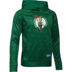 Under Armour Big Boys' Boston Celtics Primary Logo Combine Ua Armour Novelty Fleece Pullover - Green, S