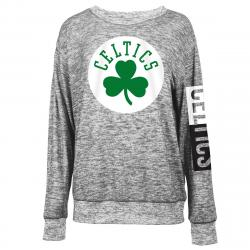 Boston Celtics Women's Space-Dye Crew Long-Sleeve Shirt - Black, S