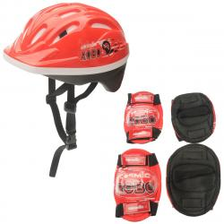 Cosmic Kids' Bike Helmet And Pad Set - Blue, ONESIZE
