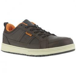 Iron Age Men's Board Rage Steel Toe Skate Oxford Shoes - Brown, 7