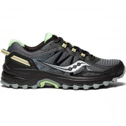 Saucony Women's Excursion Tr11 Trail Running Shoes, Wide - Black, 6