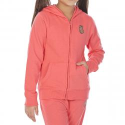 Minoti Big Girls' Fleece Graphic Hoodie - Orange, 4-5