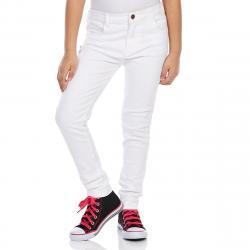 Minoti Girls' Slub Twill Skinny Pants - White, 8-9