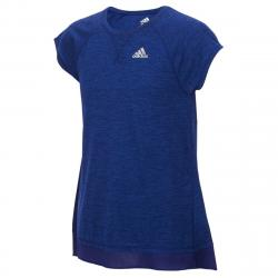 Adidas Girls' Melange Short-Sleeve Performance Top - Purple, 4