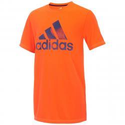 Adidas Little Boys' Pattern Fill Logo Short-Sleeve Tee - Red, 4