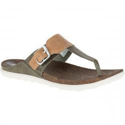 Merrell Women's Around Town Post Sandals, Vertiver - Brown, 5