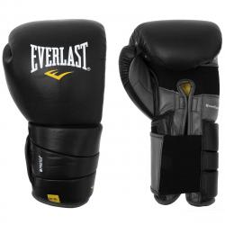 Everlast Leather Pro 3 Boxing Gloves - Black, 14 oz