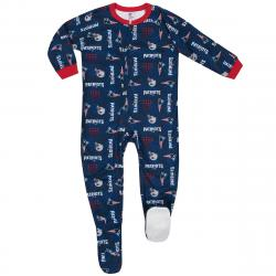 New England Patriots Toddlers' Printed Blanket Sleeper Pajamas - Blue, 3T