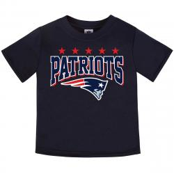 New England Patriots Toddler Boys' Poly Short-Sleeve Tee - Blue, 4T