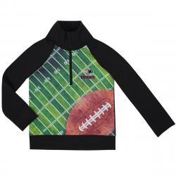 New England Patriots Toddlers' Sublimated Print Waffle 1/4 Zip Pullover - Blue, 2T