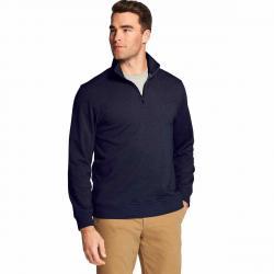Izod Men's Advantage Performance Stretch Quarter Zip Fleece Pullover - Blue, M