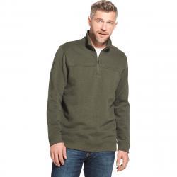 Arrow Men's Sueded 1/4 Zip Fleece Pullover - Green, M