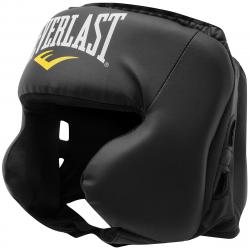 Everlast Boxing Head Guard - Black, ONESIZE