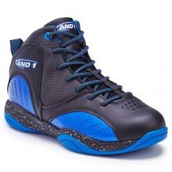 And1 Boys' Size 'm Up Basketball Shoes - Black, 1