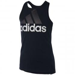 Adidas Girls' Shaped Hem Tank Top - Black, S