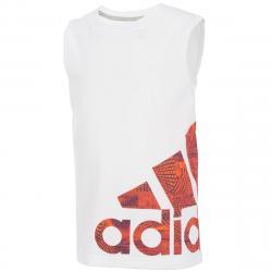 Adidas Little Boys' Supreme Speed Logo Tank Top - White, 5