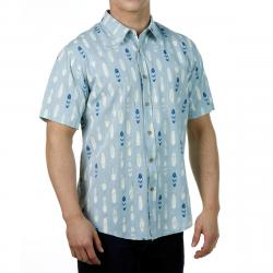 Ocean Current Guys' Boardie Woven Short-Sleeve Button-Down - Blue, S