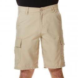 Burnside Young Men's Solid Cargo Shorts - White, 32