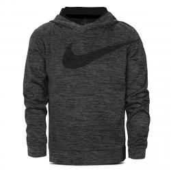 Nike Little Boys' Dri-Fit Swoosh Pullover Hoodie - Black, 6