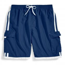 Burnside Men's Impersonator Swim Shorts - Blue, S
