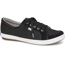 Keds Women's Vollie Ii Canvas Perforated Suede Sneakers - Black, 8