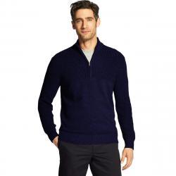 Izod Men's Newport 1/4 Zip Sweater - Blue, XXL
