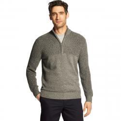 Izod Men's Newport 1/4 Zip Sweater - Black, XL
