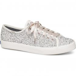 Keds Women's Kickstart Two-Tone Boucle Sneakers - White, 9.5