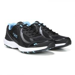 Ryka Women's Dash 3 Walking Shoes, Wide - Black, 7
