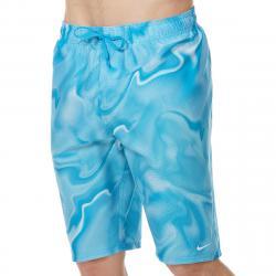 Nike Men's 11 In. Amp Axis Breaker Volley Swim Shorts - Blue, M