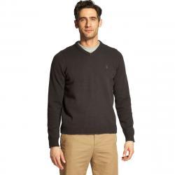 Izod Men's Premium Essentials V-Neck Sweater - Black, XXL