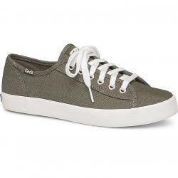 Keds Women's Kickstart Shimmer Chambray Sneakers - Green, 9