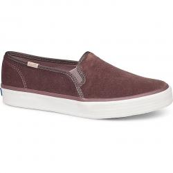 Keds Women's Double Decker Velvet Casual Slip-On Shoes - Red, 8