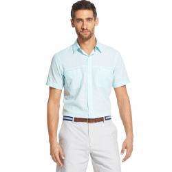 Izod Men's Dockside Short-Sleeve Shirt - Blue, XXL