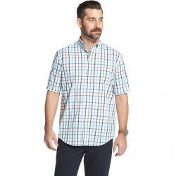 Arrow Men's Hamilton Short Sleeve Button Down Shirt - Blue, XXL