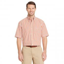 Arrow Men's Hamilton Plaid Short-Sleeve Shirt - Orange, XL