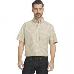 Arrow Men's Coastal Cove Woven Short-Sleeve Shirt - Brown, XL