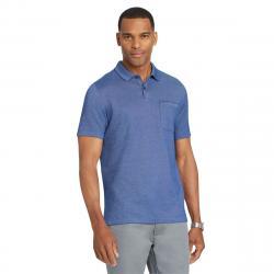 Van Heusen Men's Flex Solid Tip Short-Sleeve Polo Shirt - Blue, L