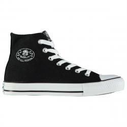 Dunlop Kids' Canvas High-Top Sneakers - Black, 7