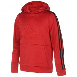 Adidas Big Boys' Embossed Pullover Hoodie - Red, S