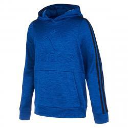 Adidas Big Boys' Embossed Pullover Hoodie - Blue, S