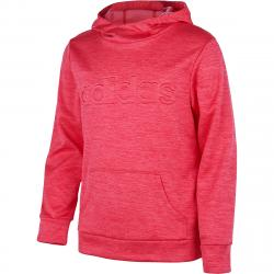 Adidas Girls' Embossed Logo Hoodie - Red, L
