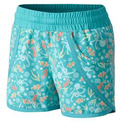 Columbia Big Girls' Solar Stream Ii Boardshorts - Green, L